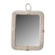 Jeffan Aspen Rectangular Mirror; White Wash