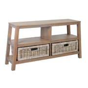 Jeffan Atwood Double Wide Low Shelf; Grey