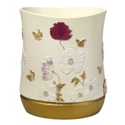 Popular Bath Products Dahlia Rose Waste Basket