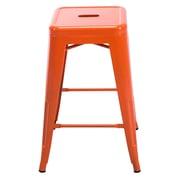 MISTERCHAIRS Tribeca Bar Stool (Set of 2); Orange