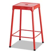 Safco Products Counter-Height Steel Stool; Red