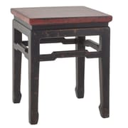 Antique Revival Chinese Square Side Table; Red
