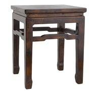 Antique Revival Chinese Square Side Table; Natural