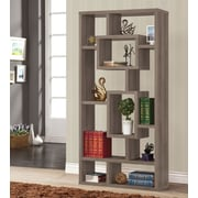 Wildon Home   70'' Cube Unit Bookcase; Dark Grey