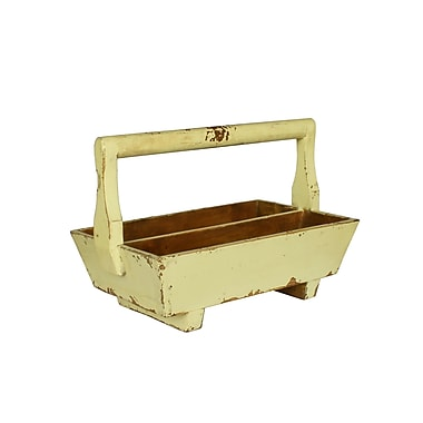Antique Revival Half-Sized Double Tray with Wooden Handle; Butter