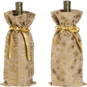 Evergreen Enterprises, Inc Burlap Wine Bags 2 Piece Set