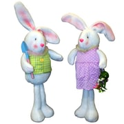 PennDistributing 2 Piece Standing Fabric Bunny Set
