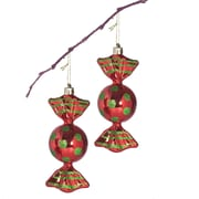 PerfectHoliday 5'' Shatterproof Handpainted Shiny Candy Christmas Ornament; Red / Green