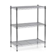 Furinno Wayar 30.5'' H Heavy Duty Wire Three Shelve Unit