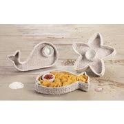 Global Amici Capri Starfish Chip N' Dip Platter