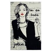 Mohawk Home Jolie Mademoiselle Nylon 5'x8' Black/ White Rug (086093477240)