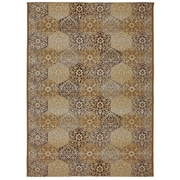 Mohawk Home Bali Tile Polypropylene/ Polyester 5'3x7'8 Multi-Colored Rug (086093458393)