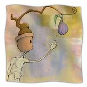 KESS InHouse Purple Fruit Fleece Throw Blanket; 40'' L x 30'' W