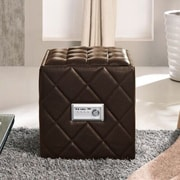 Hodedah Ottoman with Built in Speakers; Brown