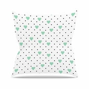 KESS InHouse Pin Point Polka Dot Throw Pillow; 26'' H x 26'' W
