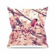 KESS InHouse Angry Bird in Fall Leaves Throw Pillow; 18'' H x 18'' W