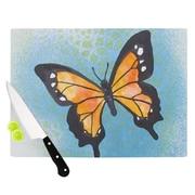 KESS InHouse Summer Flutter Cutting Board; 11.5'' W x 8.25'' D