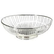 """Elegance 11"""" Silver Plated Oval Basket"""