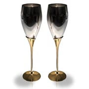 Elegance 2-Tone Tulip Fluted Goblets, Set of 2