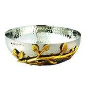 Elegance Gilt Leaf Hammered Bowl