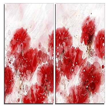Designart Red Dandelions Canvas Art Print, 40