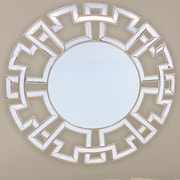 Wholesale Interiors Baxton Studio Ulmer Round Wall Mirror with Golden Trim