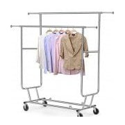Only Hangers Inc. Double Collapsible Rolling Rack