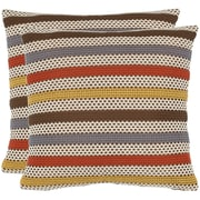 Safavieh Leslie Throw Pillow (Set of 2); Brown