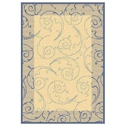 Safavieh Courtyard Natural / Blue Outdoor Area Rug; 5'3'' x 7'7''