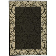 Safavieh Courtyard Black / Sand Outdoor Area Rug; 5'3'' x 7'7''