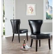 Safavieh Maria Side Chair (Set of 2); Bi-cast Leather - Black