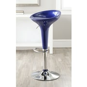 Safavieh Adjustable Height Swivel Bar Stool; Navy Blue