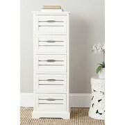 Safavieh Sarina 5 Drawer Cabinet; White