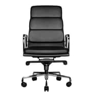 Wobi Office Clyde High-Back Leather Office Chair; Black