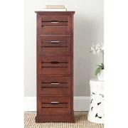 Safavieh Sarina 5 Drawer Cabinet; Cherry