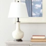 Safavieh 22'' H Table Lamp with Empire Shade (Set of 2); Victor Cream