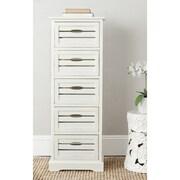 Safavieh Sarina 5 Drawer Cabinet; Grey