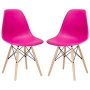 Edgemod Side Chair (Set of 2); Fuchsia