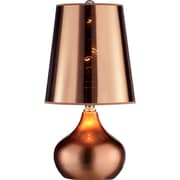 OK Lighting Luster 18'' H Table Lamp with Cone Shade; Magenta