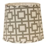 AHS Lighting 10'' Linen Drum Lamp Shade