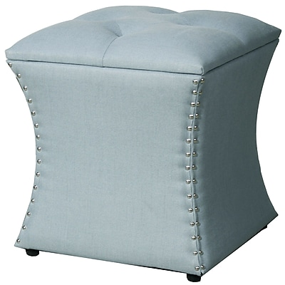New Pacific Direct Amelia Upholstered Storage Ottoman;