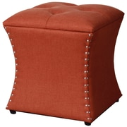 New Pacific Direct Amelia Upholstered Storage Ottoman; Persimmon