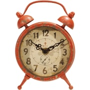 American Mercantile Metal Magnet Clock; Red
