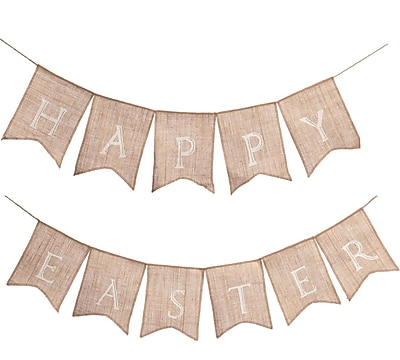 Transpac Imports, Inc 2 Piece Happy Easter Banner Set WYF078278335083