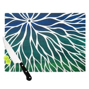 KESS InHouse Ocean Flower Cutting Board; 11.5'' W x 8.25'' D