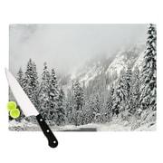 KESS InHouse Winter Wonderland Cutting Board; 11.5'' W x 8.25'' D