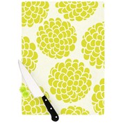 KESS InHouse Grape Blossoms Cutting Board; 8.25'' H x 11.5'' W