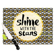 KESS InHouse Shine w/ the Stars Cutting Board; 8.25'' H x 11.5'' W