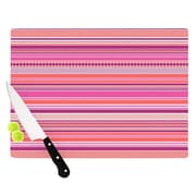 KESS InHouse Pink Ribbons Cutting Board; 8.25'' H x 11.5'' W