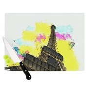 KESS InHouse Eifel - Bon Jour Cutting Board; 8.25'' H x 11.5'' W